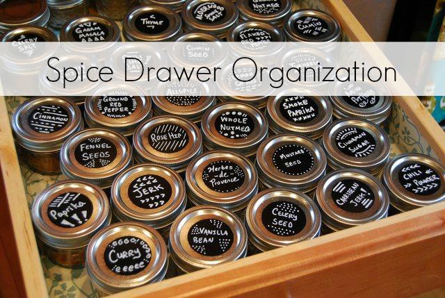 spice drawer organization with mini jelly jars the borrowed abodethe borrowed abode