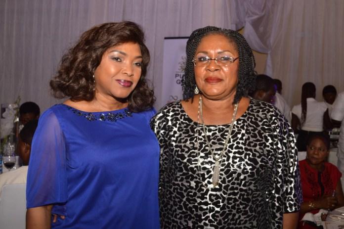 Mrs. Bunmi Sonuga with Mrs. Joy Shobanjo.
