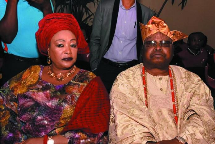 The Awujale of Ijebuland , Oba Sikiru Adetona & Olori Adetona