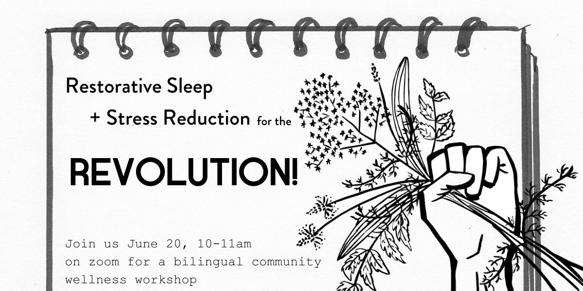 Jun 20, 2020 (10-11 AM): Herbs for Restorative Sleep + Stress Reduction