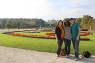 The three of us in the gardens of Schönbrunn Palace.