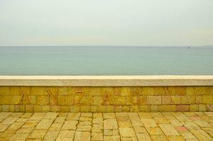 Looking onto Anzac beach