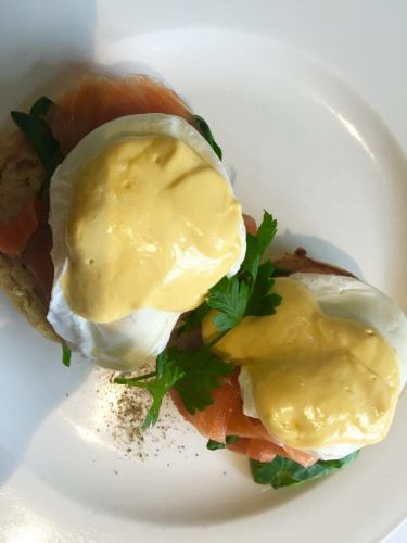 poached eggs with bernaise sauce at links house hotel bowral new south wales