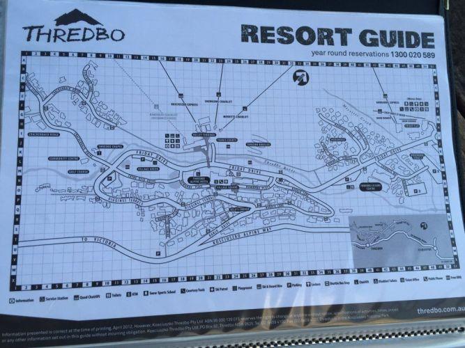 resort guide map of thredbo village
