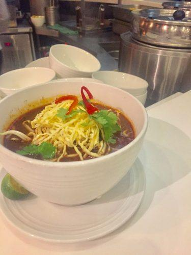 curry laksa at malaysia airlines business class lounge kuala lumpur airport gate h