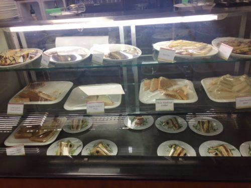 plates of sandwiches at business class lounge kathmandu airport