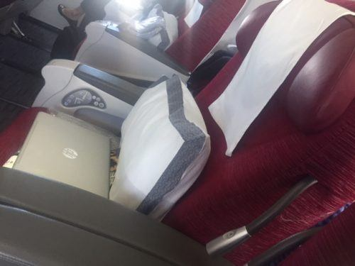 red seat business class qatar airways