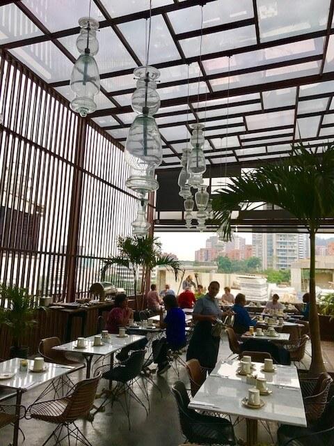 tables on the 6th floor art hotel medellin