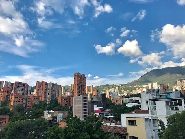 View from the Art Hotel Medellin Rooftop