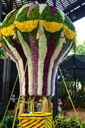 display of hot air balloon botanical gardens