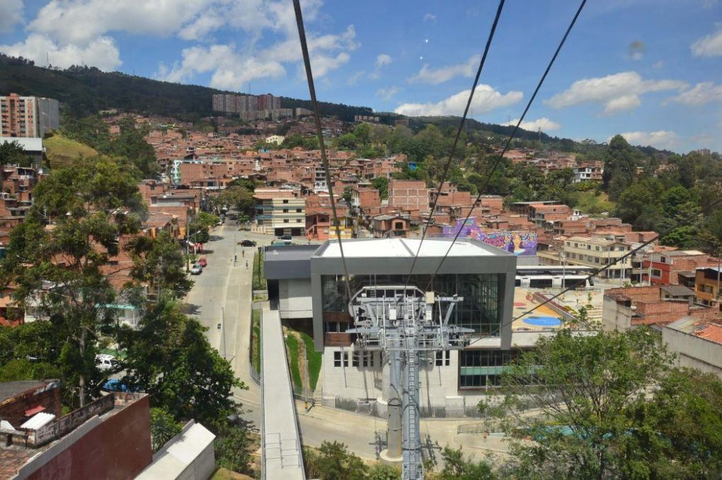 Cable car set up in medellin