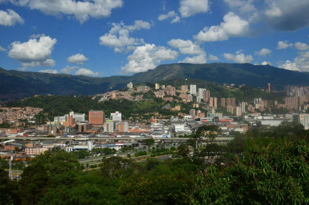 view over medellin from pueblito paisa