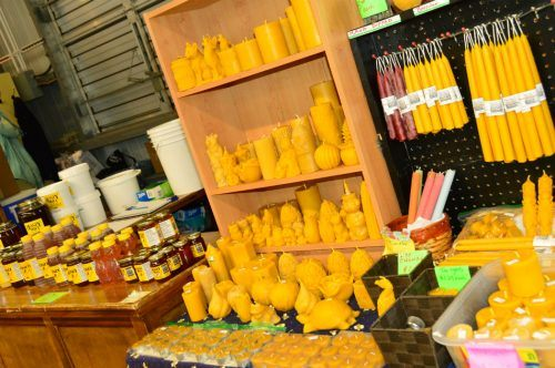 candles at a market