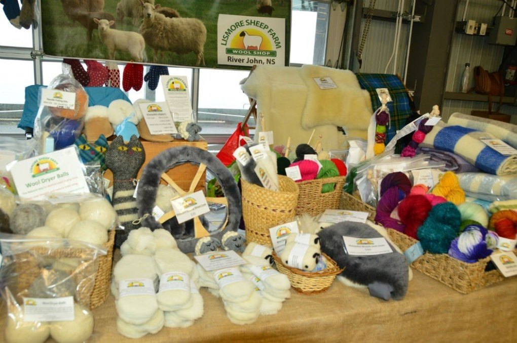 wool products at seaport farmers market