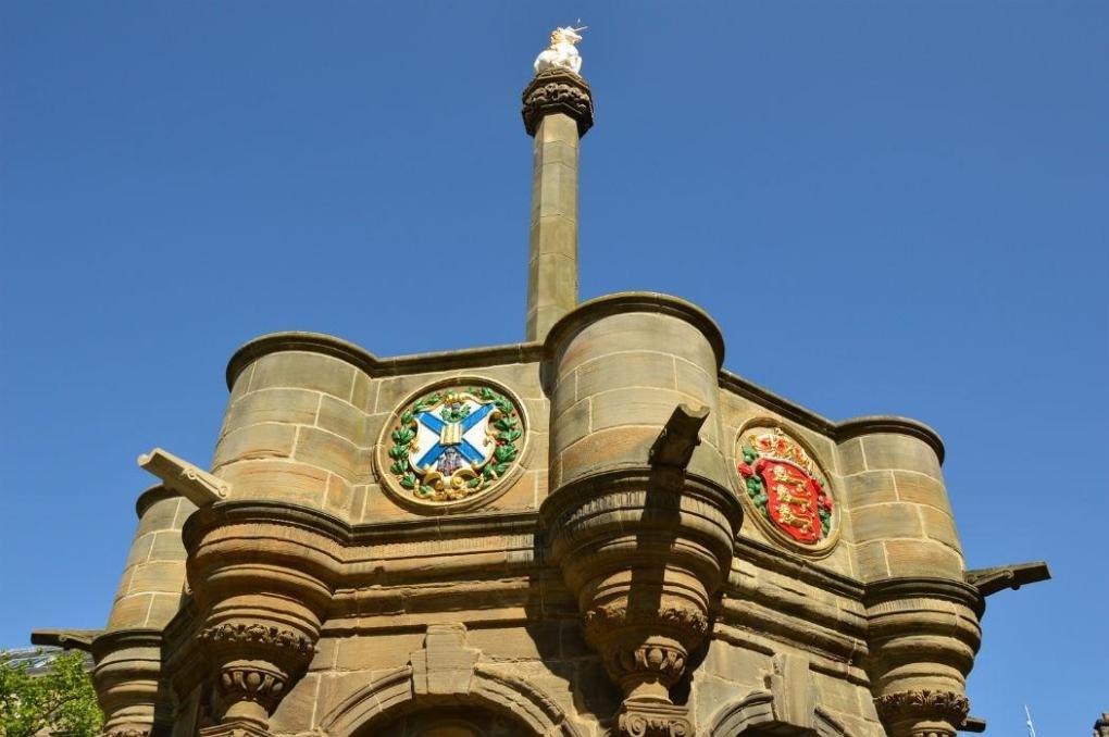 the mercat cross in edinburgh scotland