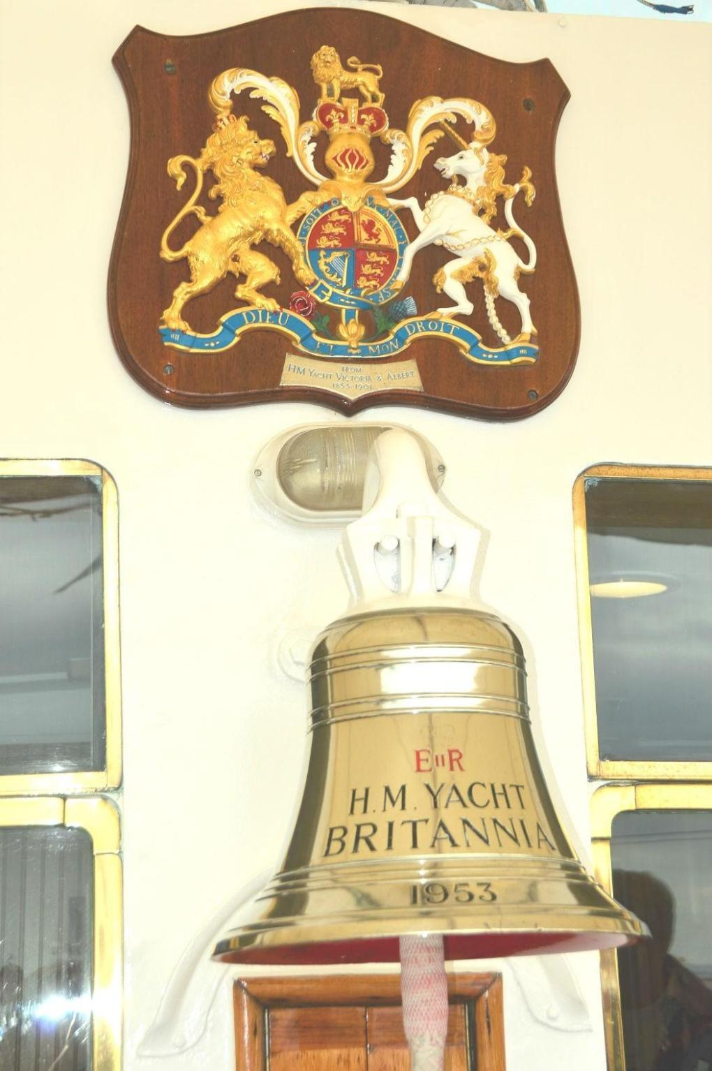 royal yacht britannia bell and crest