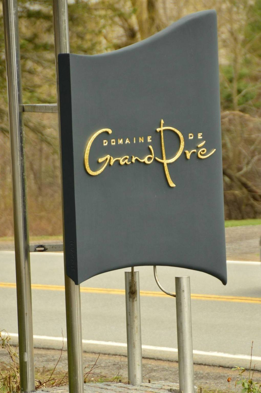 sign for domaine de grand pre winery