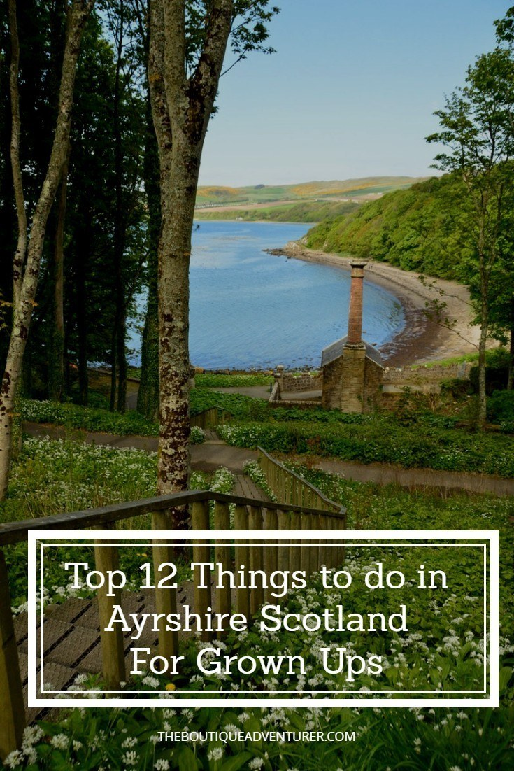 The lovely Ayrshire is one of the least visited regions of Scotland - find out why you should get in ahead of the crowds with the Top 12 things to do #ayrshirescotland#ayrshirescotlandcastles#ayrshirescotlandhotels#ayrshirescotlandrobertburns#ayrshirescotlandtravel#scotlandtravel#scotlandthingstodoin#scotlandfood#scotlandhotels#scotlandcastles#scotlandvacation