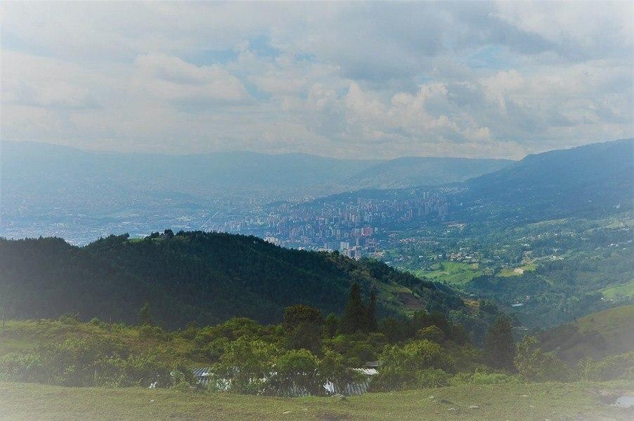 view of medellin from La Catedral Medellin