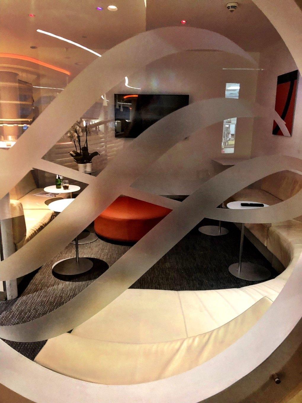 sky team lounge seating area at Heathrow Terminal 4