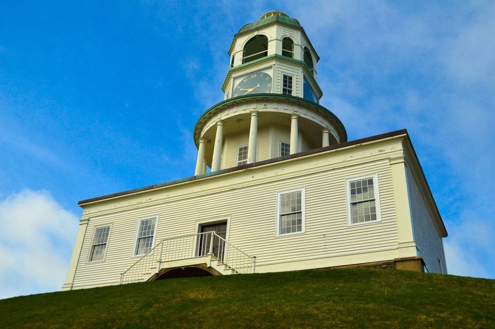 The iconic Clock Tower on the Halifax Citadel