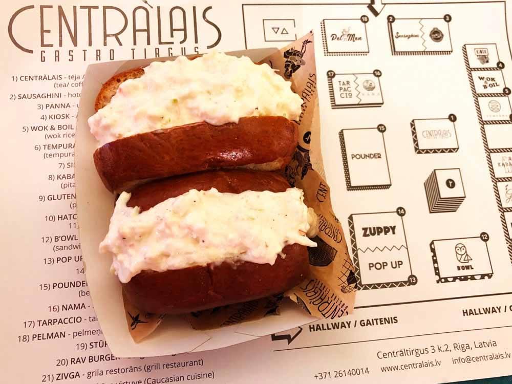 Lobster burgers at Centralais Gastro Tirgus Riga