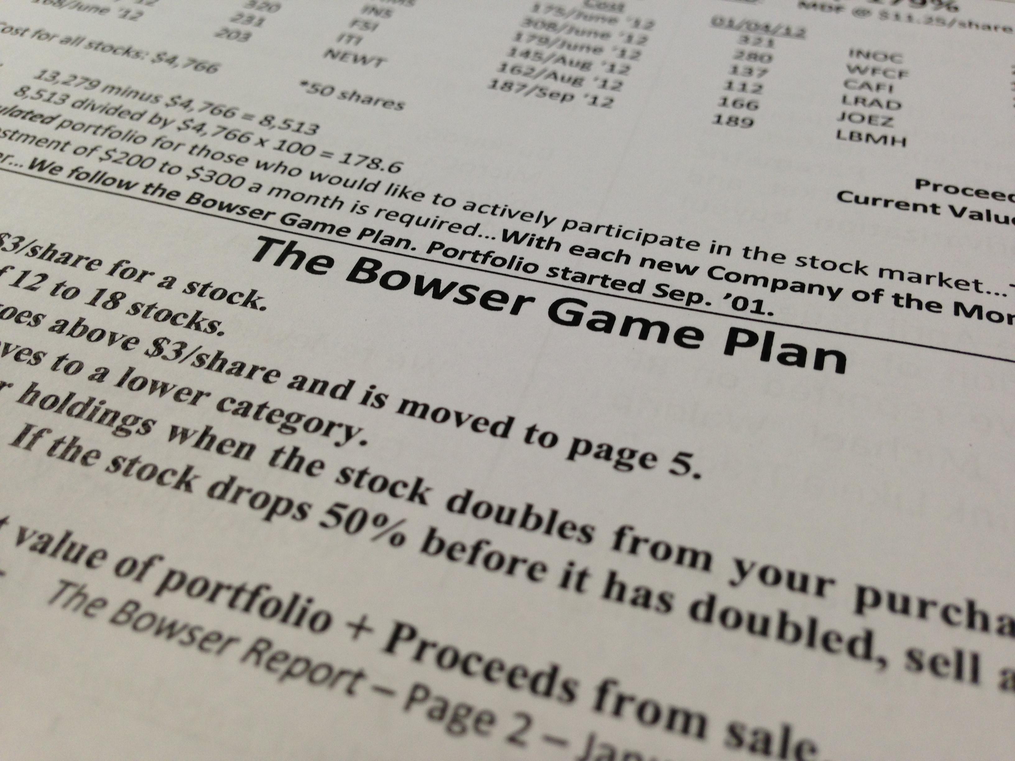 Penny Stocks Game Plan