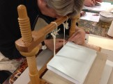 using the sewing frame