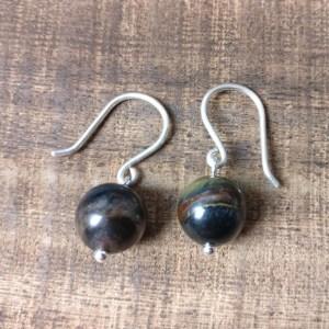 silver 925 earrings hawks eye