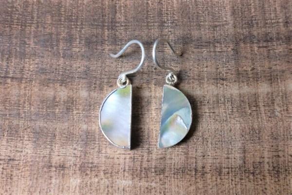 silver 925 pearl earrings