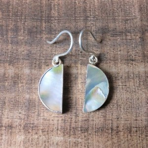 silver 925 pearl earrings