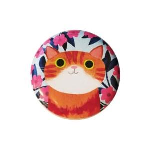 Planet Cat kleine ronde blikken doos ros