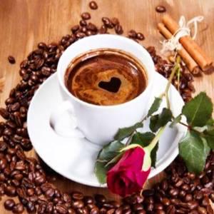 Diamond painting Valentijn koffie