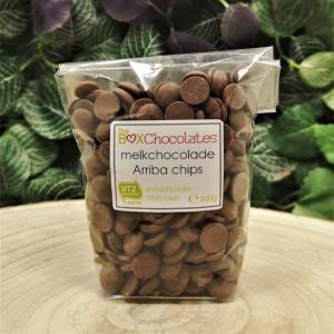 Melkchocolade Arriba chips 200g
