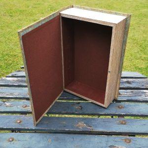 Opbergboek boekendoos Blauwstaart large achterkant
