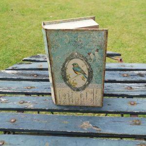 Opbergboek boekendoos Blauwstaart small voorkant