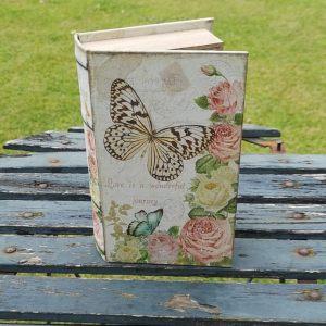 Opbergboek boekendoos Vlinders small voorkant