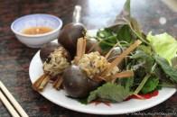 Snails stuffed with pork & lemongrass