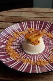 Coconut Parfait, Caramelised Banana & Nestum Crumble