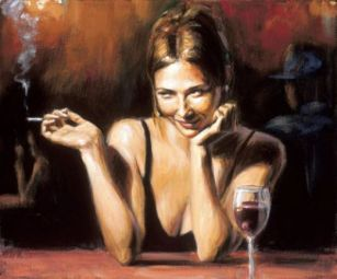 woman at bar 3 fabian perez selling pleasures