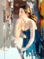 figurative painting woman Josef Kote 2
