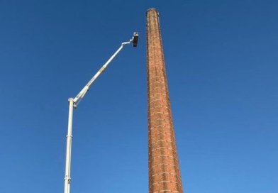 Carlisle Chimney man lowered finally.