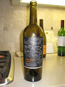 A wine label only a scientist could love!