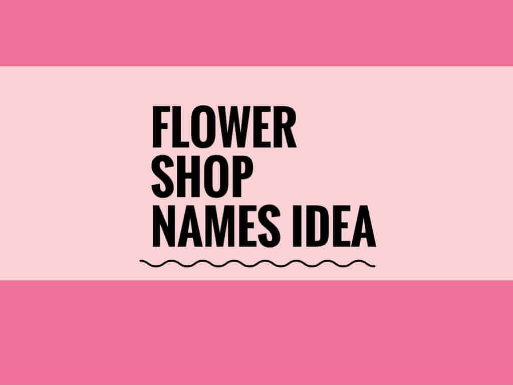 107 Catchy Florist And Flower Shop Names Logos
