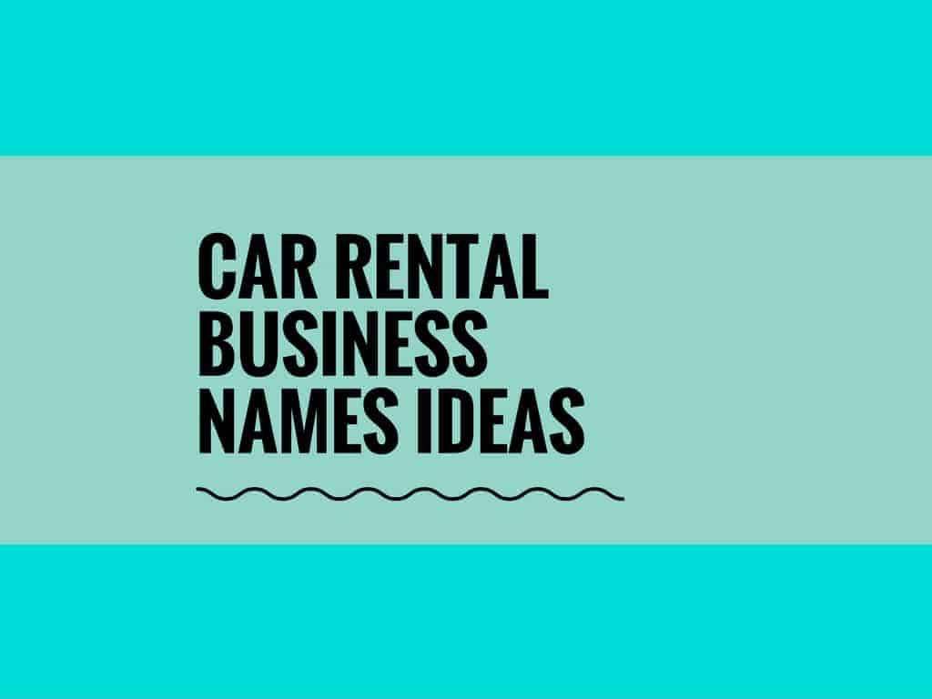 65 catchy car rental business names