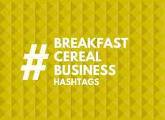 hashtags for Cereal Business