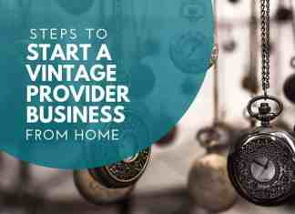 start vintage provider business from home