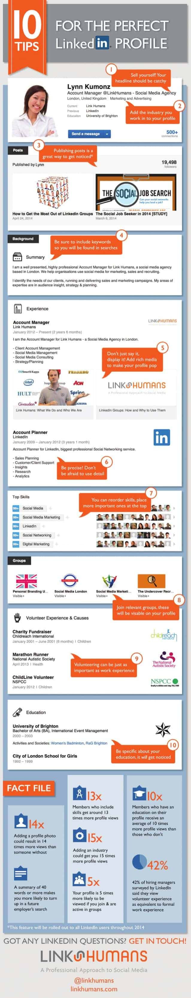 tips for perfect linkedin profile