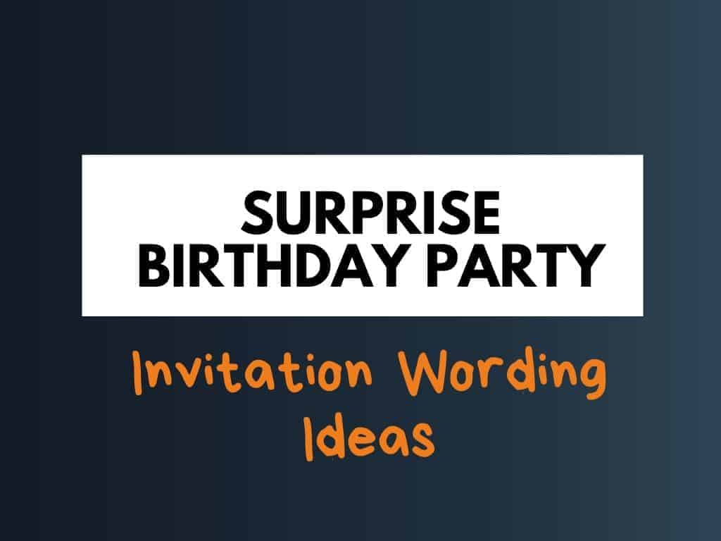 best surprise birthday party invitation