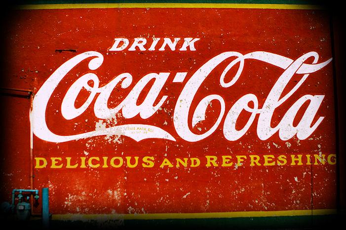 Vintage Coca Cola mural in Greenville, SC